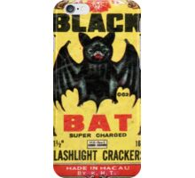 Vintage Firecracker Pack iPhone Case Series: Fly With the Black Bat iPhone Case/Skin