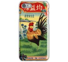 Vintage Firecracker Pack iPhone Case Series: The Cock is Something to Crow About iPhone Case/Skin