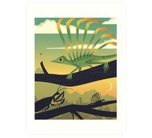 Longisquama Sunset Art Print