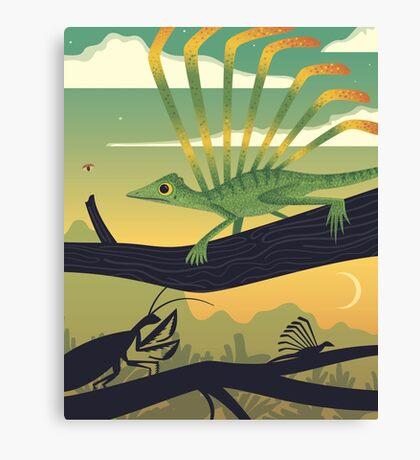 Longisquama Sunset Canvas Print