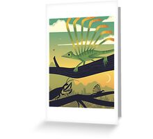 Longisquama Sunset Greeting Card