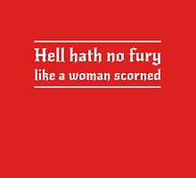 Hell hath no fury like a woman scorned Womens Fitted T-Shirt