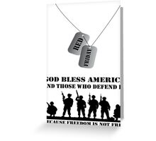 Red Friday Support our Troops Greeting Card