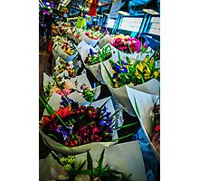 Pike Place Flowers Photographic Print