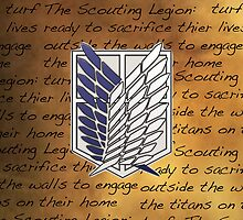 Shingeki no Kyojin - Scouting Legion by flamewolf33