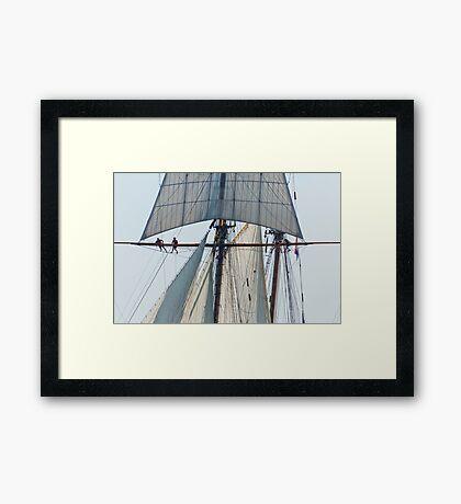 On the Rat Lines Framed Print