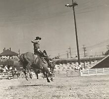Jack Wade on Bronc At Cheyenne Frontier Days 1939 by Robert Stanford