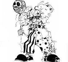 Clown Greetings by Gretchen Braun