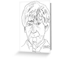 Patrick Troughton - 2nd Doctor Greeting Card