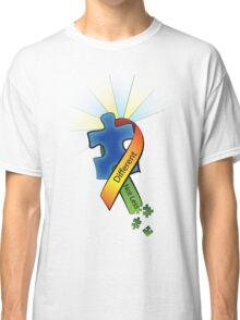 Autism Ribbon with Puzzle Peaces Classic T-Shirt