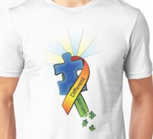 Autism Ribbon with Puzzle Peaces Unisex T-Shirt