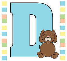 D is for Dog by ValeriesGallery