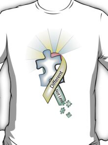 Autism Ribbon with Puzzle Peaces T-Shirt