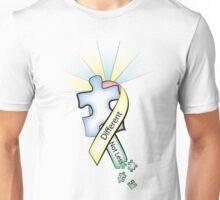 Autism Ribbon with Puzzle Peaces Unisex T-Shirt