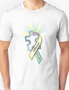 Autism Ribbon with Puzzle Peace T-Shirt