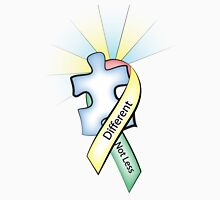 Autism Ribbon with Puzzle Peace Unisex T-Shirt