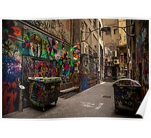 Alleyway Grafitti Poster