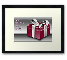 A Red Wrapped Gift Box To Both Of You  Framed Print