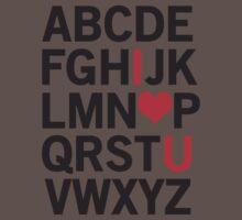 Alphabet Love Baby Tee