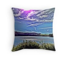 Upstate Lake Throw Pillow