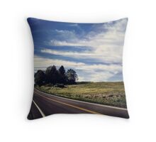 Upstate Road Throw Pillow