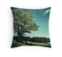 Upstate Road & Tree Throw Pillow