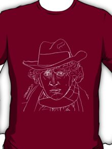 Tom Baker - 4th Doctor (white) T-Shirt