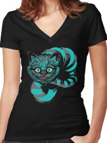 Grinning like a Cheshire Cat Women's Fitted V-Neck T-Shirt