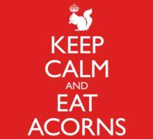 Royal Squirrel: Keep Calm and Eat Acorns Kids Clothes