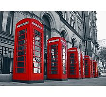 Preston Red Phone Boxes Photographic Print