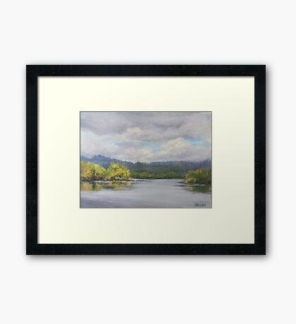 Original Plein Air Landscape Painting - Summer Sky Framed Print