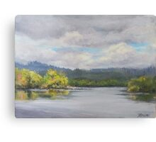 Original Plein Air Landscape Painting - Summer Sky Canvas Print
