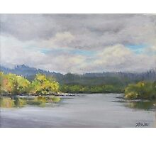 Original Plein Air Landscape Painting - Summer Sky Photographic Print