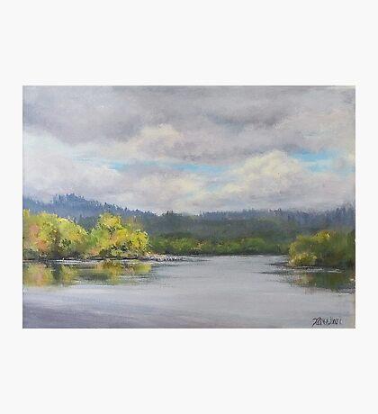 Original Plein Air Landscape Painting - Summer Sky Photographic Print
