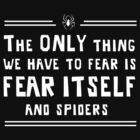 The only thing we have to fear is fear itself and spiders by contoured