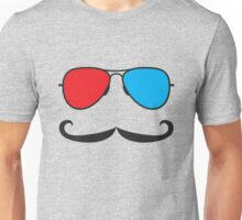 3D Glasses and Mustaches Unisex T-Shirt