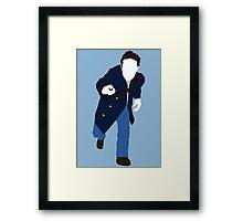 The Eighth Doctor - Doctor Who - Paul McGann (Dark Eyes) Framed Print