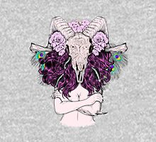 Beautiful woman with long hair and horns Unisex T-Shirt