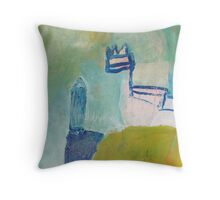 crossing keeper hut Throw Pillow