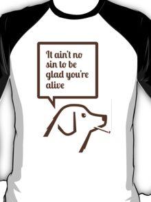 Smoking dog quotes Springsteen T-Shirt