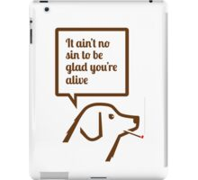 Smoking dog quotes Springsteen iPad Case/Skin