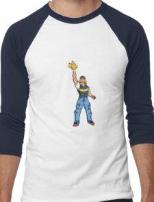 Poké-MAN: I HAVE THE PIKAAAAAAAA! Men's Baseball ¾ T-Shirt