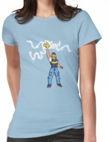 Poké-MAN: I HAVE THE PIKAAAAAAAA! Womens Fitted T-Shirt
