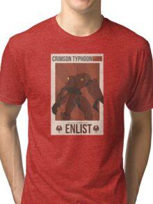 Crimson Typhoon Tri-blend T-Shirt