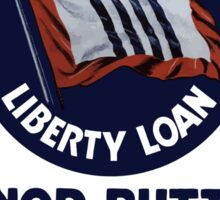 Wear Your Fourth Liberty Loan Honor Button Sticker