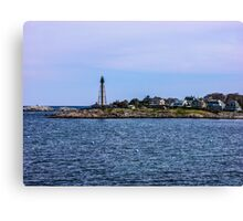 Marblehead Light In Marblehead Neck 2 Canvas Print