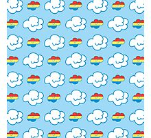Rainbow Dash Clouds Photographic Print