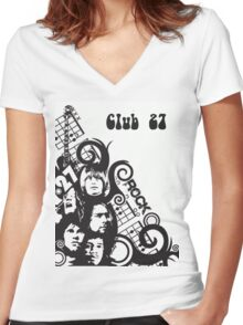 Here's a tribute to Club 27 Women's Fitted V-Neck T-Shirt