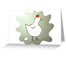 Chicken and Egg Greeting Card
