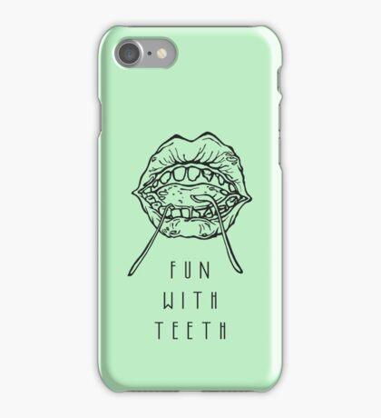 Fun With Teeth :D iPhone Case/Skin